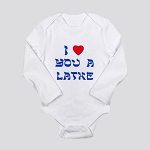 I Love You a Latke Long Sleeve Infant Bodysuit