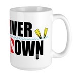 Diver Upside Down Large Mug