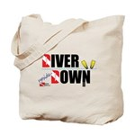 Diver Upside Down Tote Bag