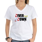 Diver Upside Down Women's V-Neck T-Shirt