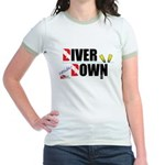 Diver Upside Down Jr. Ringer T-Shirt