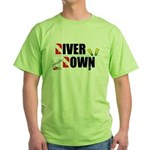 Diver Upside Down Green T-Shirt