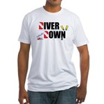 Diver Upside Down Fitted T-Shirt