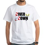 Diver Upside Down White T-Shirt