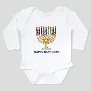 Hannukah Menorah Long Sleeve Infant Bodysuit