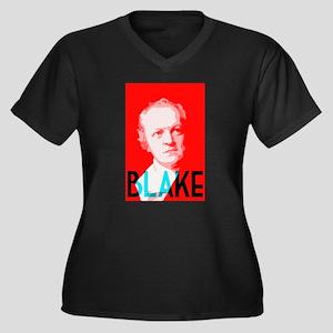 William Blake Women's Plus Size V-Neck Dark T-Shir