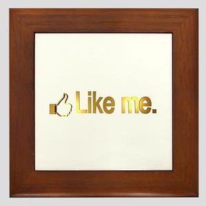 Like me. in Gold Framed Tile