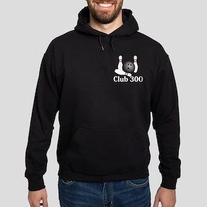 Club 300 Logo 1 Hoodie (dark) Design Front Pocket