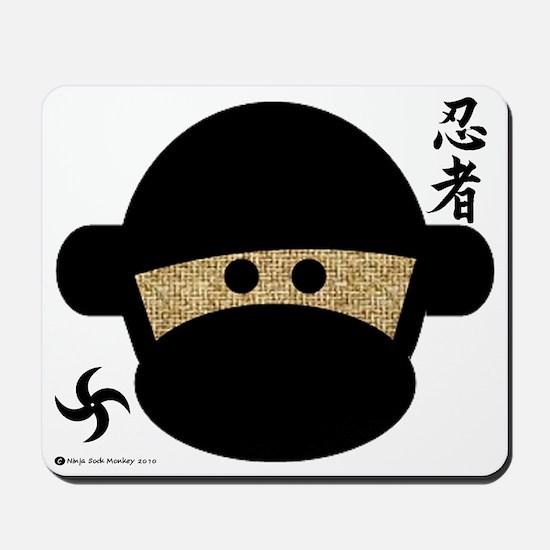 Sock Monkey Ninja Mousepad