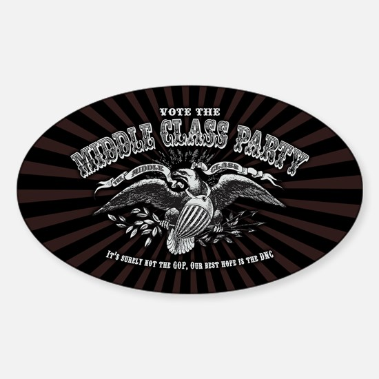Middle Class Party Sticker (Oval)