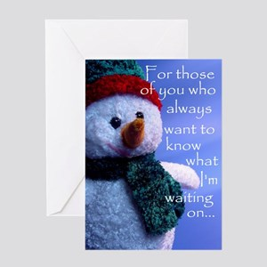 Waiting on Christmas Greeting Card