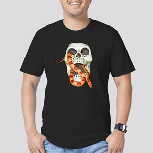 Scary Snake Skull Men's Fitted T-Shirt (dark)