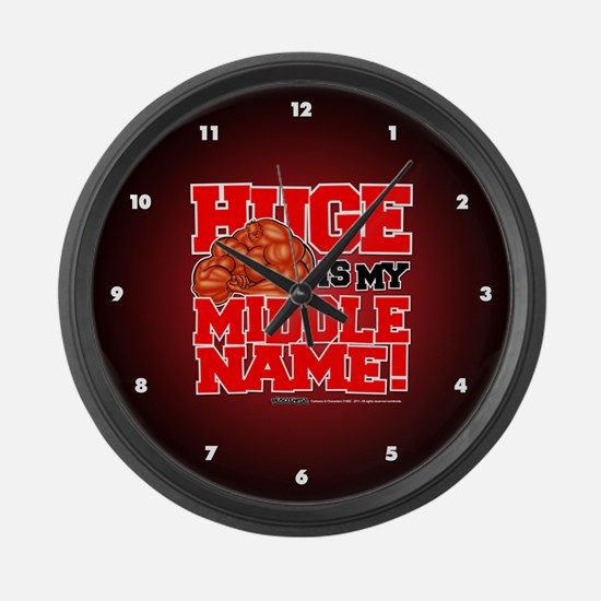 HUGE Is My Middle Name - Large Wall Clock