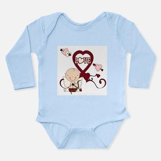 Cupid Love Long Sleeve Infant Bodysuit