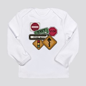 Road Signs Long Sleeve Infant T-Shirt