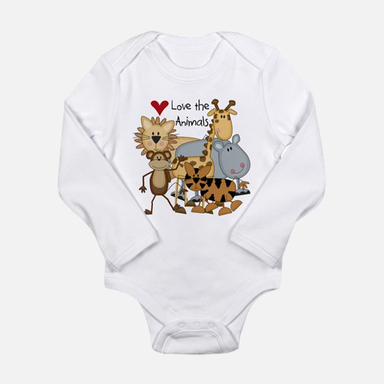 Love the Animals Long Sleeve Infant Bodysuit
