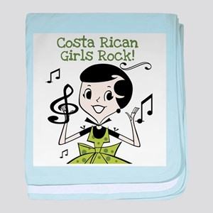 Costa Rican Girls Rock Infant Blanket