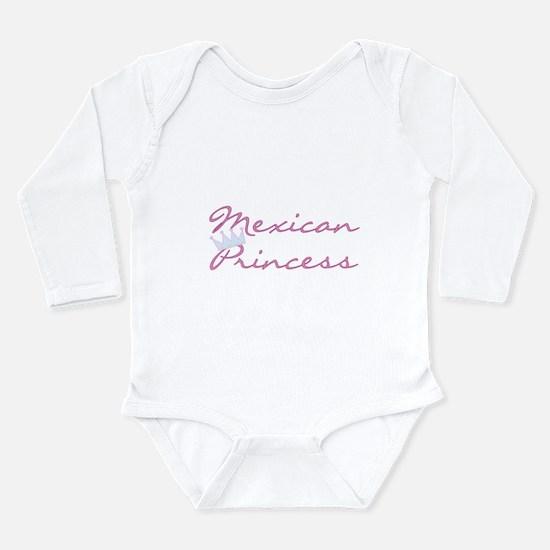 Mexican Princess Long Sleeve Infant Bodysuit