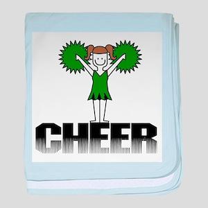 Green Cheerleading Infant Blanket