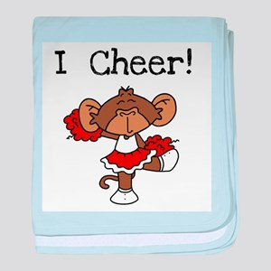 Cheerleader Red and White Infant Blanket