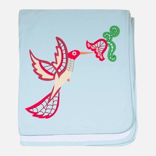 Lace Hummingbird Infant Blanket