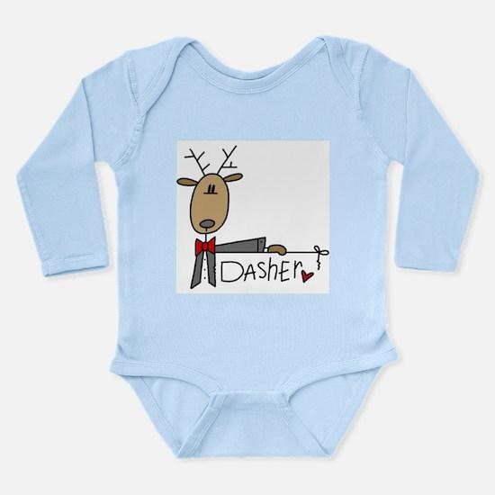 Dasher Reindeer Long Sleeve Infant Bodysuit