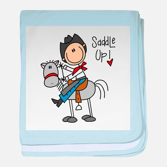 Cowboy Saddle Up Infant Blanket