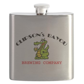 CBBC 10 8 ALLIGATOR GLASS Flask