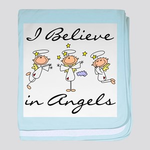 I Believe in Angels Infant Blanket