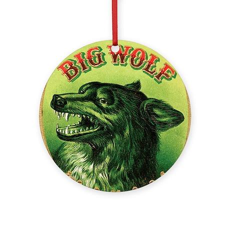Big Wolf Ornament (Round)