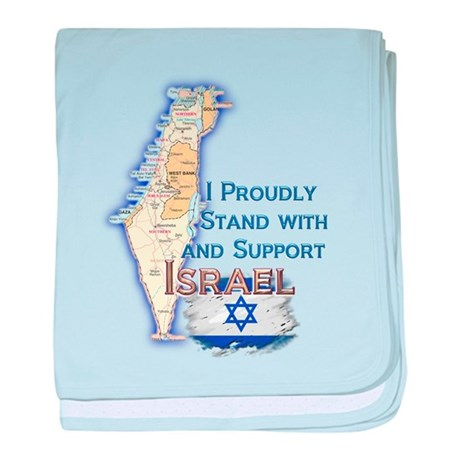 I Stand With Israel - Infant Blanket