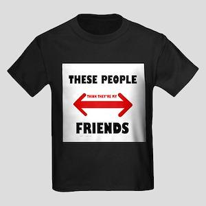 NOT FRIENDS Kids Dark T-Shirt