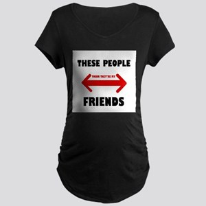 NOT FRIENDS Maternity Dark T-Shirt