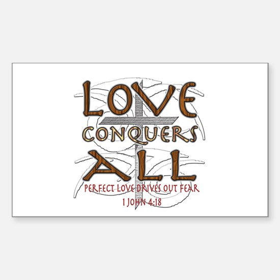 Love Conquers All Sticker (Rectangle)