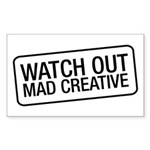 Mad Creative Sticker (Rectangle)