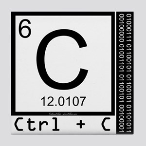 Periodic table carbon coasters cafepress carbon copy tile coaster urtaz Gallery