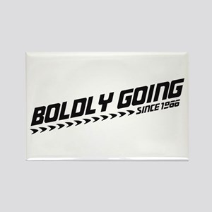 Boldly Going Rectangle Magnet