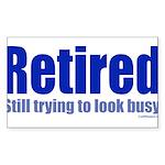 Retirement Sticker (Rectangle 50 pk)