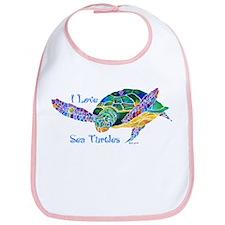 I Love Sea Turtles 2 Bib