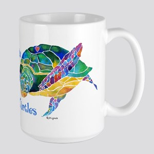 I Love Sea Turtles 2 Large Mug