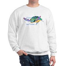 I Love Sea Turtles 2 Sweatshirt