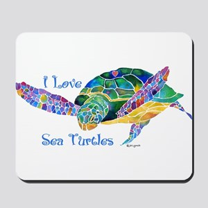 Beautiful Graceful Sea Turtle Mousepad