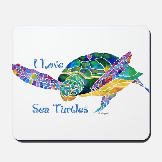 Beautiful Graceful Sea Turtle Mousepad