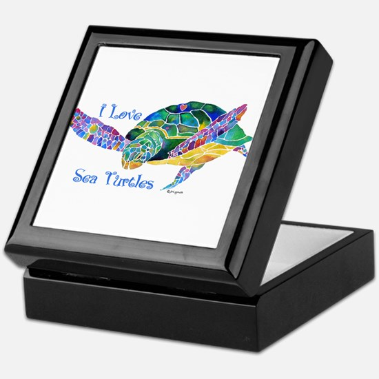 Beautiful Graceful Sea Turtle Keepsake Box