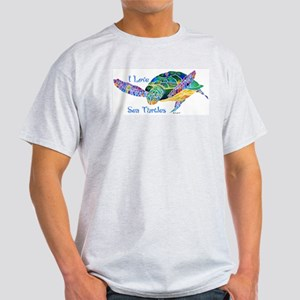 Beautiful Graceful Sea Turtle Light T-Shirt