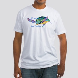 Beautiful Graceful Sea Turtle Fitted T-Shirt