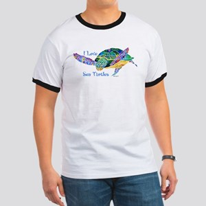 Beautiful Graceful Sea Turtle Ringer T