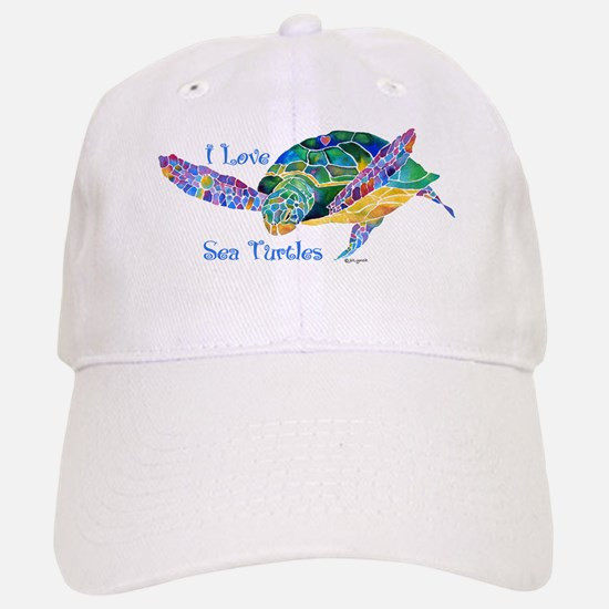 Beautiful Graceful Sea Turtle Baseball Baseball Cap