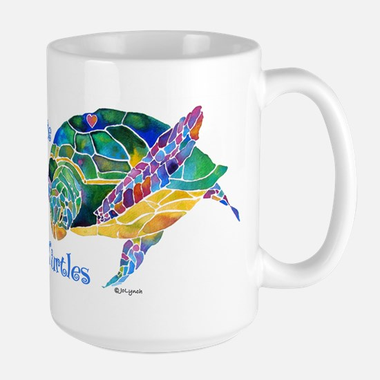 Beautiful Graceful Sea Turtle Large Mug