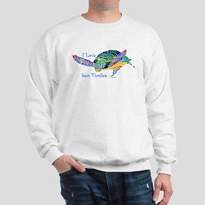 Beautiful Graceful Sea Turtle Sweatshirt